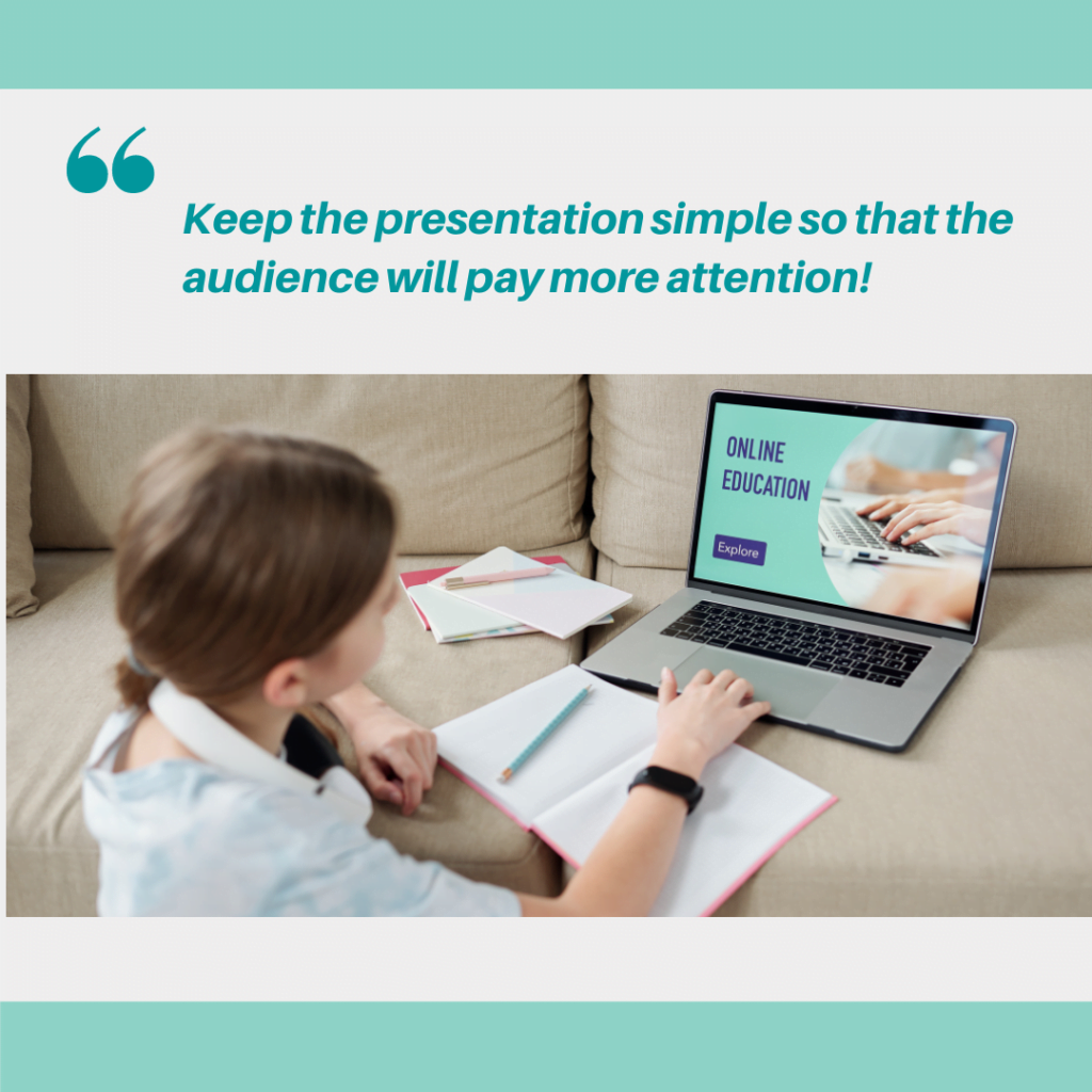 tips to create mind blowing PowerPoint presentations -keep the content simple